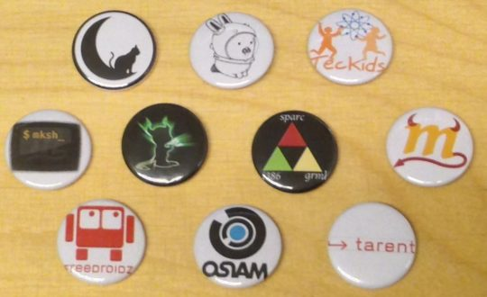 Several pin-on buttons I made