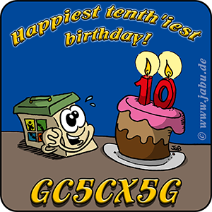 "GC5CX5G│Challenge: ""Happiest tenth'iest birthday!"""